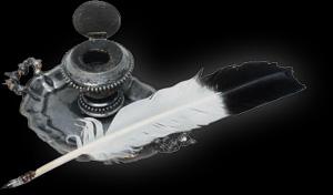 pluma y tintero